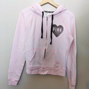 VS PINK | Pink logo hooded sweater